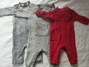 Next Knitted All-in-one Romper Bundle Age 3-6 Months Boys