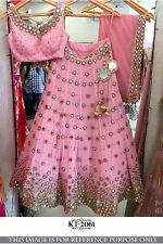 Bollywood Indian Designer Heavy Embroidered Wedding Lehenga Choli Dupatta Set