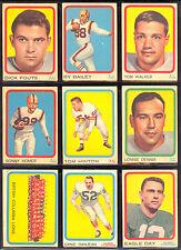 1963 TOPPS CFL FOOTBALL PARTIAL CARD SET LOT 64/88 EX-NM DON GETTY KEN PLOEN DAY