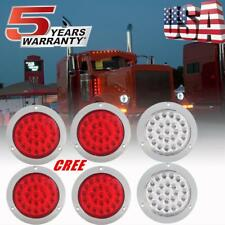 6Pcs 24 LED Tail Turn Stop Signal Brake Lights for Truck Trailer Double Face