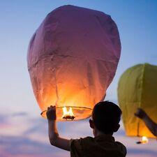 5X Chinese Kongming Lantern Paper Candle Light Wishing Lamp Flying Wedding Party