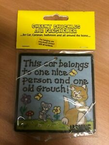 cheeky chuckles Air Freshener New Sealed Car Home Office funny gift old grouch C