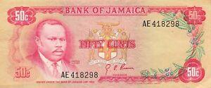 Jamaica 50 Cents 1970 P-53