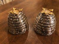 Set of 2 Studio Nova Godinger Silver Gold Tone Candlesticks Candle Holders
