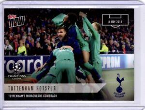 Tottenham Hotspur / Spurs 2019 Topps UCL Now #55 Miraculous Comeback