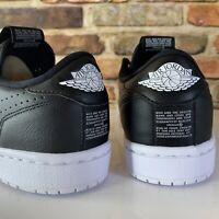 Nike Womens Air Jordan 1 RET Low Women Size 9 Slip Black White AV3918-001