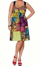 Dress JOE BROWNS HEINE multicolour patchwork look size 42 46 50 52 54 56 NEW