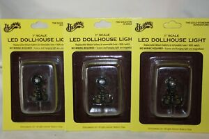 Miniature Dollhouse 3 Houseworks LED Battery Spot Lights NEW in packages 1:12 NR