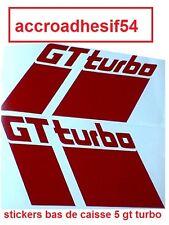 sticker bas de caisse coté lateraux r5 gt turbo couleur unis  o choix super 5