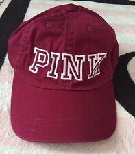 Victoria's Secret Pink Hat Orchid White Embroidered Graphics Baseball Cap