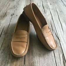 Tod's leather penny loafer, light brown, 7.5