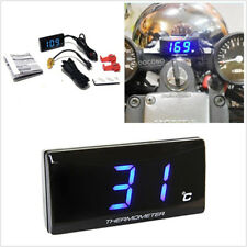 One Blue LCD 0-120 Degree DC12V Motorcycle Digital Water Temp Temperature Gauge
