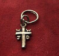 Vintage Sterling Silver Necklace 925 Pendant Cross WWJD Jesus Signed $