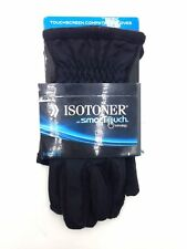 $124 Isotoner Men'S Smart Dri Gloves Black Touchscreen Athletic Winter Size Xs