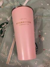 Starbucks Korea 2016 Christmas Snow Soft Pink To Go Heritage Tumbler 473ml Lmtd