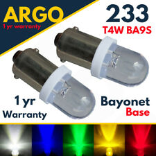 Ba9s T4w Led White 233 Car Interior Side Light Bulbs Lamps Red Green Amber 12v