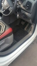 Volkswagen Vw Sharan (2010-date) Black Rubber Tailored Car full Floor Mats.