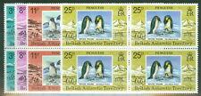 BRITISH ANTARCTIC TERR #72-5 Complete Penguin set in Blocks of 4, og, NH, VF