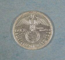 1939-a  NAZI GERMANY 2 MARK COIN - SWASTIKA - SILVER