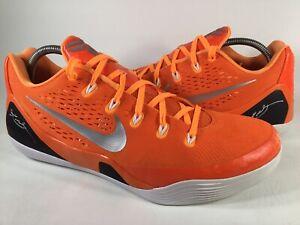 Nike Kobe 9 IX EM Orange Blaze Black Silver White Mens Size 11.5 Rare 685776-808