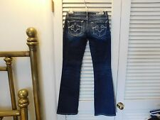 REROCK FOR EXPRESS Bootcut Lowrise Jeans 0R Factory Distressings Blue Stretch  C