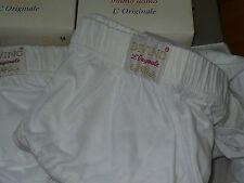 6 Slip Uomo Divino Art.74 Taglia 10 Maxi Calibrata cotone colore Bianco