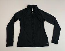 Women's GAP Fit Medium Black Athleisure Atheltic Scuba Jacket Thumb Loops