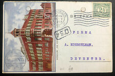 1916 Groningen Netherlands Picture postcard Cover To Deventer Eenbach Building
