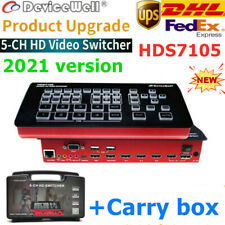 V2021 DeviceWell HDS7105 5-Channel 4 HDMI+1 DP inputs Video Switcher Live stream