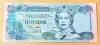 Bahamas 2001 p68 ½ Dollar UNC Banknote Queen Elizabeth II