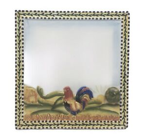 Menu Board Ceramic Rooster Dry Erase Standing Kitchen Farmhouse Chicken