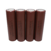 4X 18650 High Drain 3000mAh 3.7V Li-ion Batterie Rechargeable Battery Flat Top
