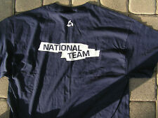 MENS EXTRA LARGE MIKASA T-SHIRT/NATIONAL TEAM /NAVY BLUE