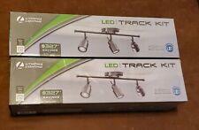 2 PACK Lithonia Lighting 2 ft. Brushed Nickel Integrated LED Track Lighting Kit