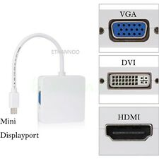 PORTA mini display DP Cavo Thunderbolt a DVI VGA HDMI Adapter for Apple Macbook