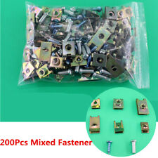 200x U Type Screw Nuts Cushion Speed Clips Assortment Kit Fastener Trim Panel