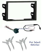 Double Din Car Stereo Kit Combo w/Amplified Antenna Adapter +Tools for select VW