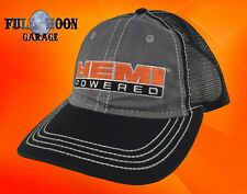 New Dodge Hemi Powered Mens Black Classic Trucker Cap Hat