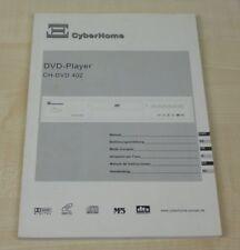 Cyberhome CH-DVD 402 Bedienungsanleitung (mehrsprachig, auch in Deutsch)