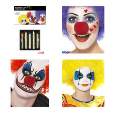Smiffy's Make-Up Sticks-rouge, jaune, bleu, noir et blanc (24396)