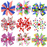 1pcs Baby Kids Girls Grosgrain Ribbon Bow Hair Clip Hairpin Alligator Clips EP