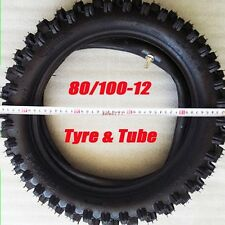 "80/100-12 3.00- 12"" Inch Rear Knobby Tyre Tire + Tube PIT PRO Trail Dirt Bike US"