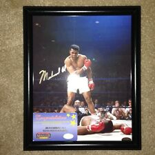 Muhammad Ali Over Liston Auto/Signed 8x10 photo Mounted Memories COA *Solid Gold