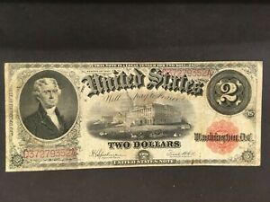 Proof Print by the BEP Face of  1917 $2.00  United States Note US Note