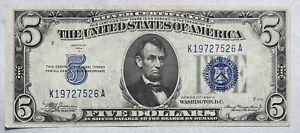 1934 A $5 Silver Certificate