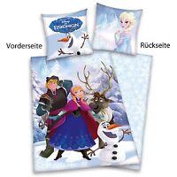 Dinsey´s Eiskönigin Elsa Anna Olaf Winter Bettwäsche Baumwolle Flanell 135/200
