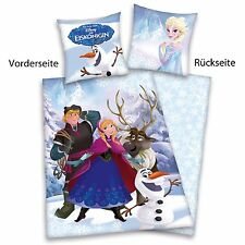 Disney´s La Reine Des Neiges Elsa Anna Olaf Hiver Linge De Lit En Coton Flanelle