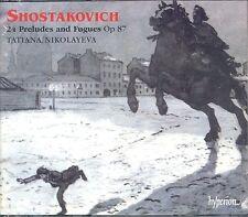 Dmitri Shostakovich 24 Preludes Fugues for solo piano Op 87 CD NEW Nikolayeva