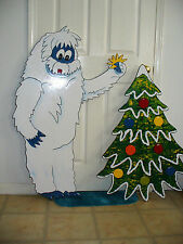 HAND MADE BUMBLES & CHRISTMAS TREE. FROM RUDOLPH STORY CHRISTMAS YARD ART DECOR