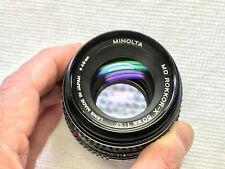 MINOLTA MD ROKKOR-X 50mm f1.7 PRIME LENS